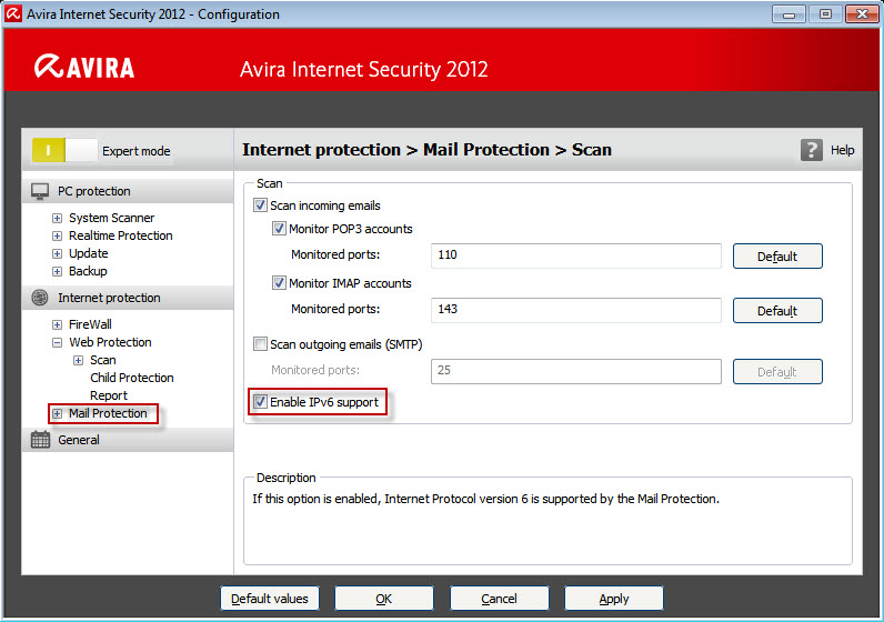 Protezione Internet - Mail Protection - Scansione