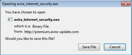 Opening avira_internet_security.exe