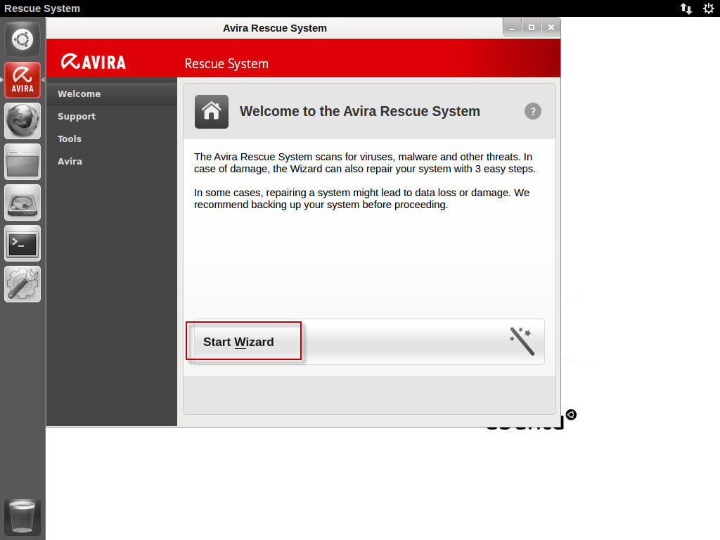 avira-rescue system_start-wizard