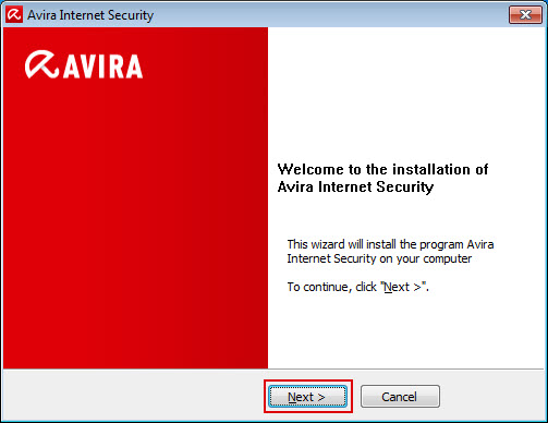 Avira Internet Security - Welcome window