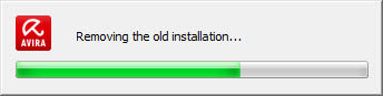 Removing the old installation...