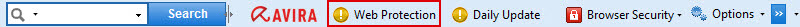 Avira Toolbar - Web Protection  is deactivated