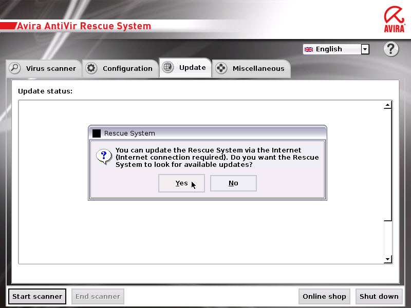 Avira AntiVir Rescue CD - update