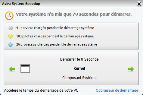Avira System Speedup - time for boot-up the system