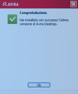 Congratulations! - Avira successfully installed