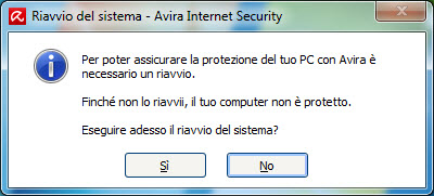 System restart - Avira Internet Security