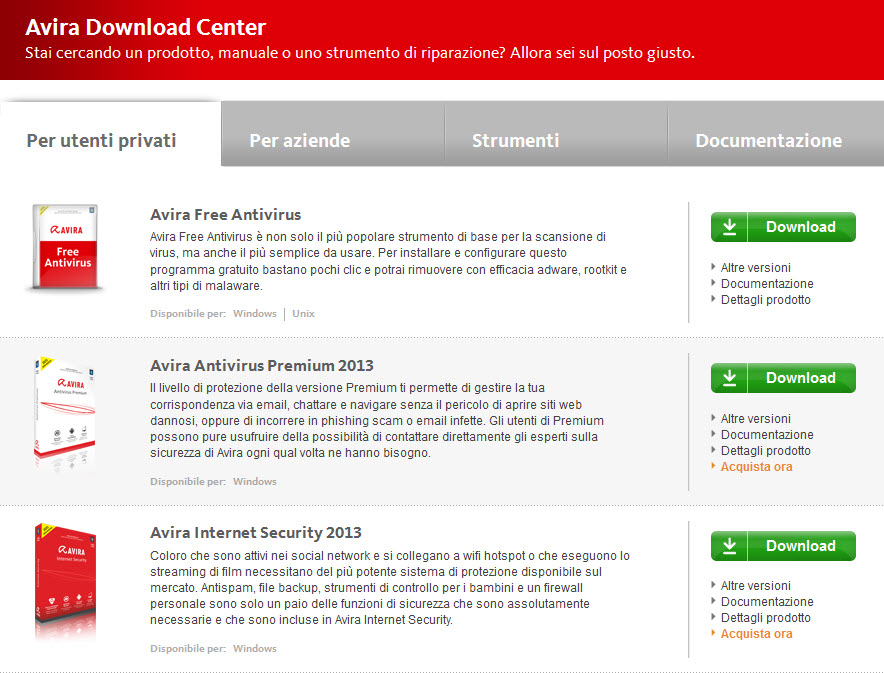 Avira Download Center - F|r Home