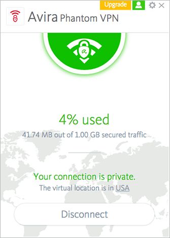 Avira Phantom VPN Mac Screenshot