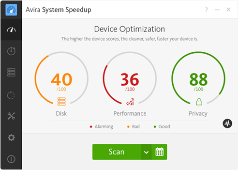 Avira System Speedup - Optimize Screenshot