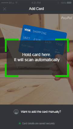 Secure credit cards - scan card