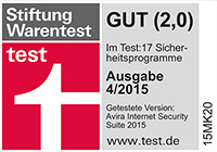 Stiftung Award Internet Security Suite