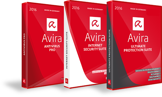 Avira products box shots