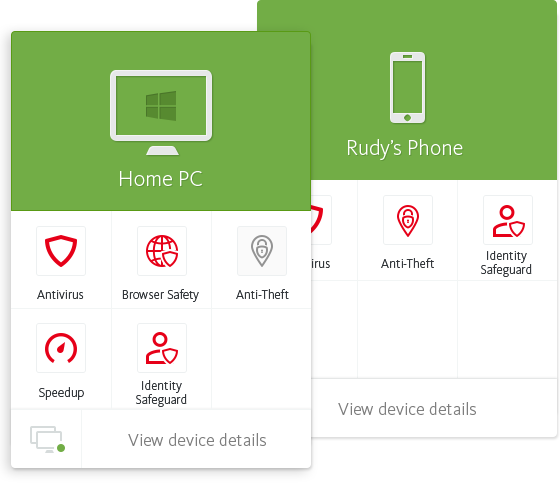 Avira Online Essentials – our online dashboard