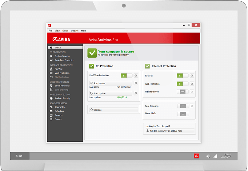 Avira AntiVir Personal - Free Antivirus freeware screenshot