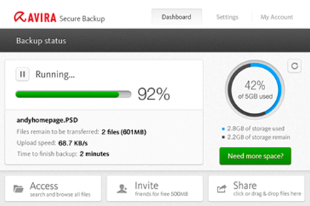 Avira Secure Backup